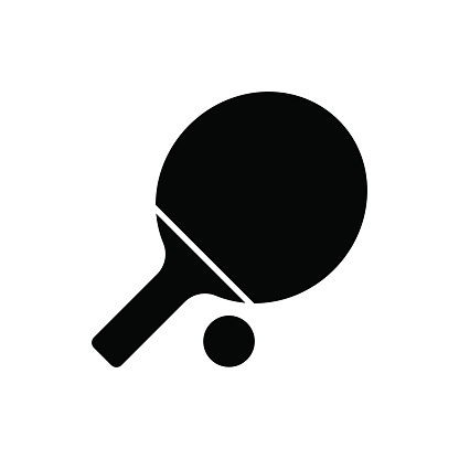 Ping Pong Paddle Vector Illustration premium clipart.