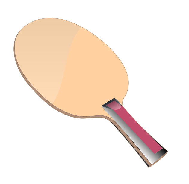 Crossing table tennis paddles clipart.