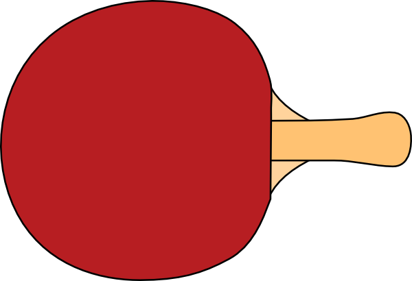 Table tennis paddles clipart.