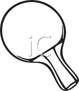 Ping Pong Black And White Clipart.