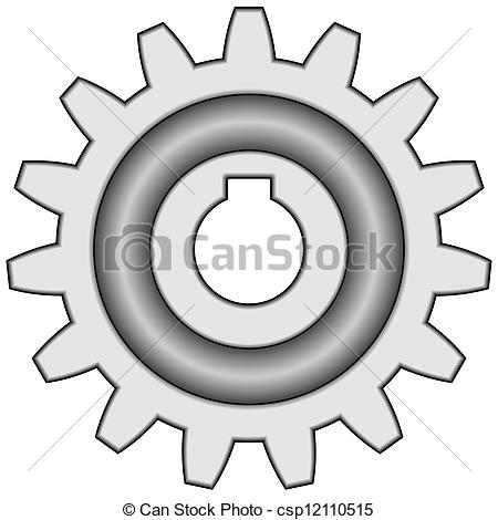 Vector Clip Art of Gear.