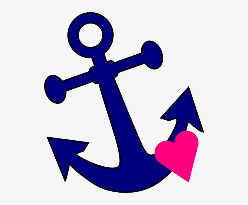 Anchor With Heart Clip Art At Clker Com Vector Clip.