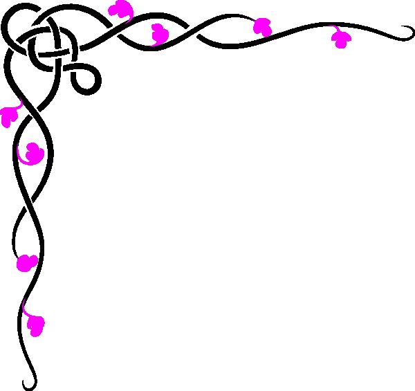 Black Pink Border Clip Art at Clker.com.