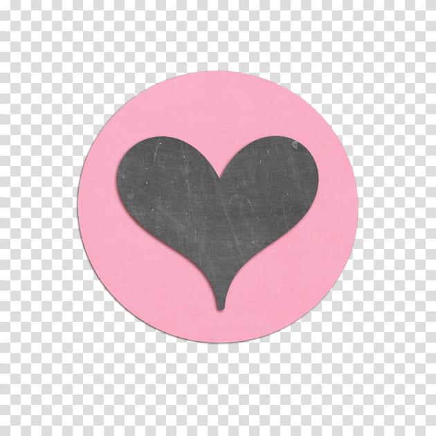 Swalk, black heart over pink background illustration.