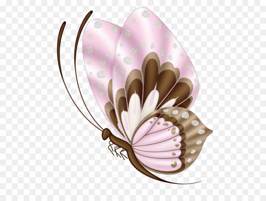 Pink And Brown Butterfly Clip Art PNG Brush.