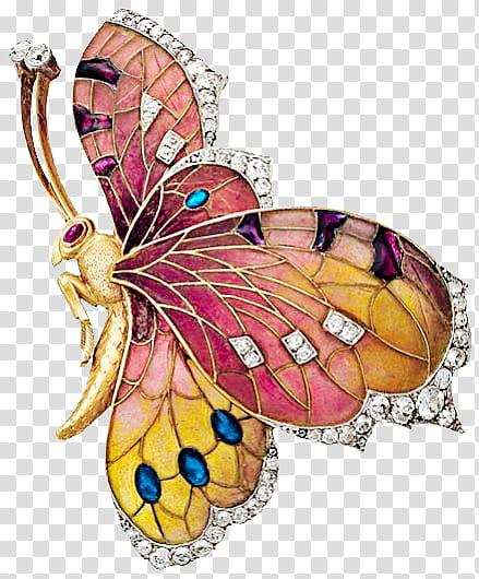 Insect Jewelry s, brown, yellow, and pink butterfly jewelry.