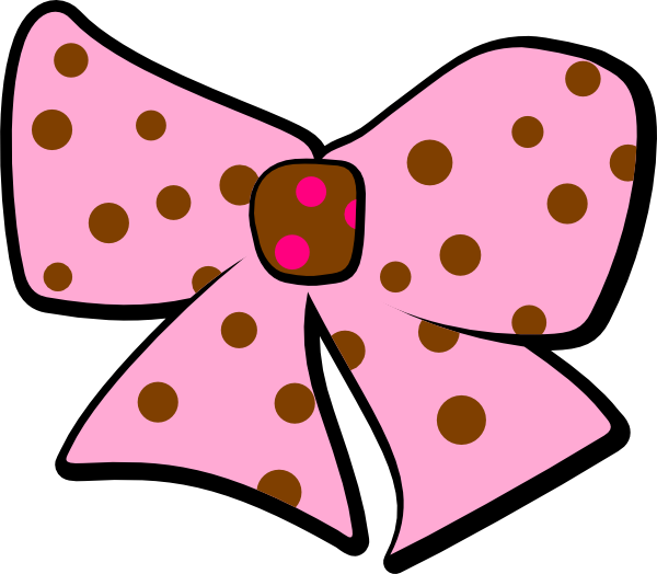 Pink And Brown Bow Clip Art at Clker.com.