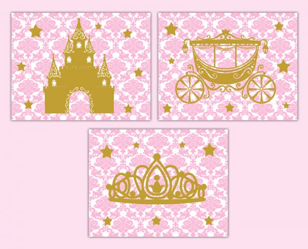 Pink And Gold Baby Girl Clipart.