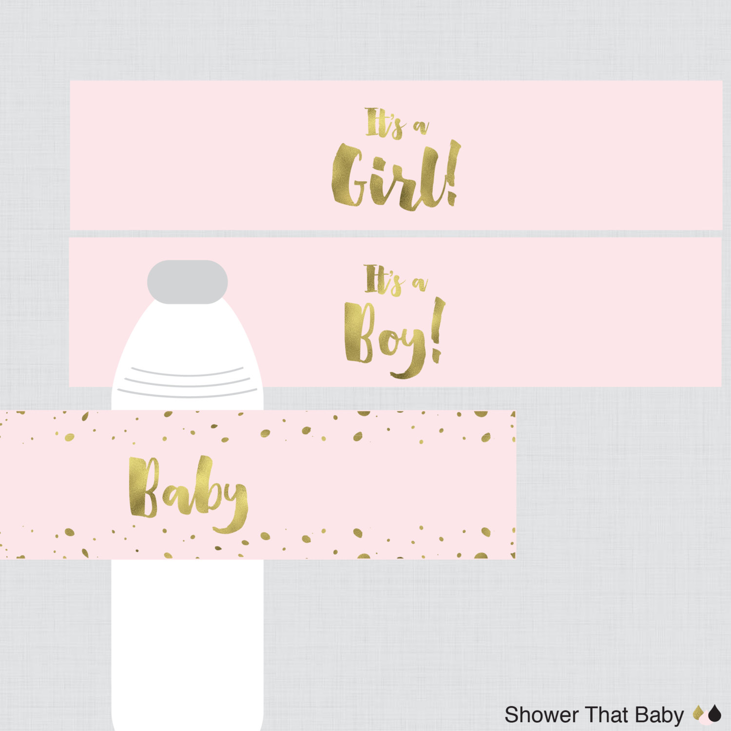 Pink And Gold Baby Girl Clipart