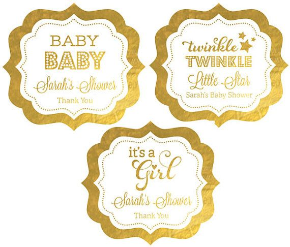 17 Best images about Pink and Gold Baby Shower Decorations on.