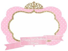 Pink And Gold Crown Clipart.