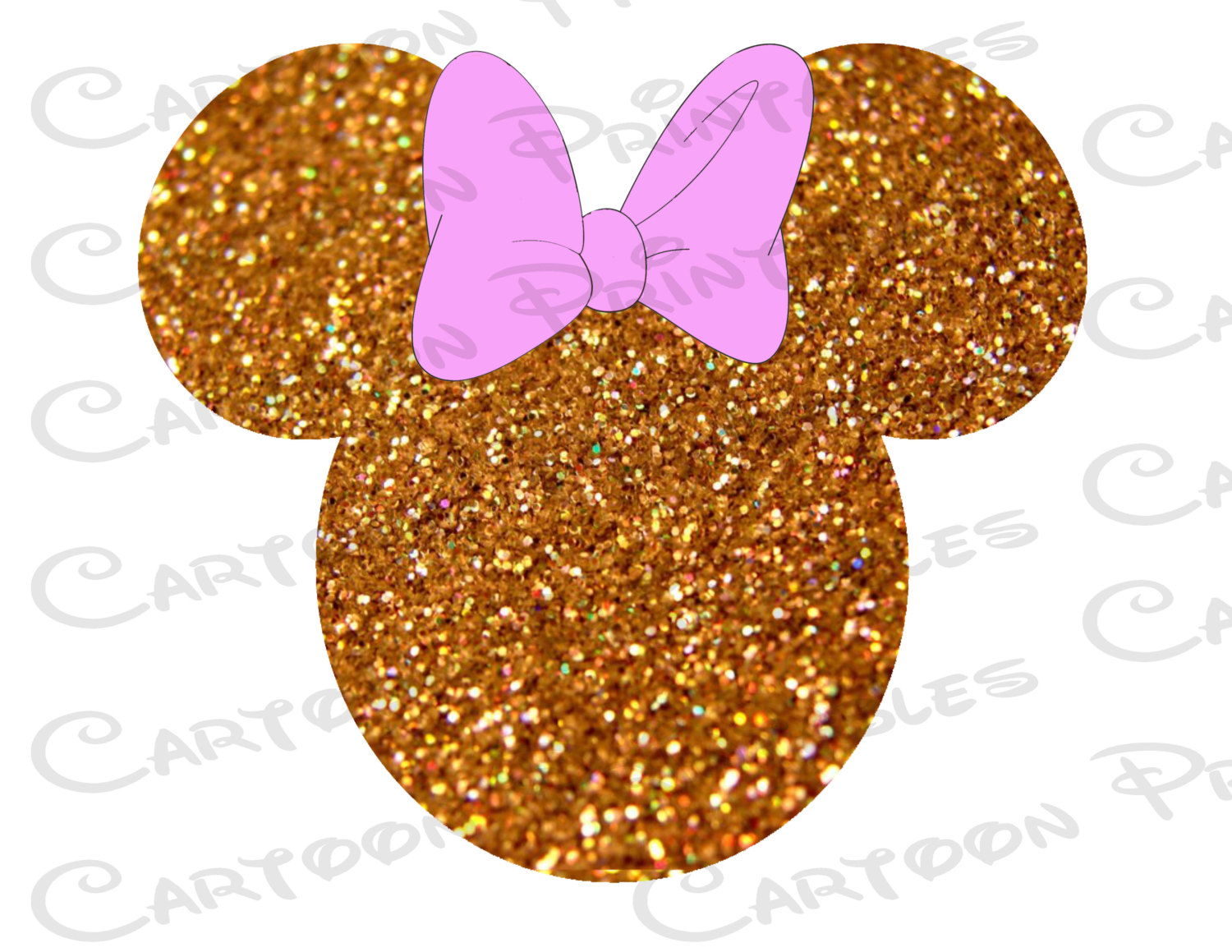 Gold Minnie Mouse Silhouette.