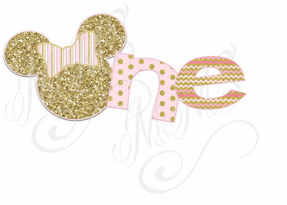 Gold Minnie Mouse Clipart.