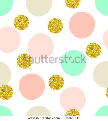 """green And Gold Polka Dots"" Stock Photos, Royalty."