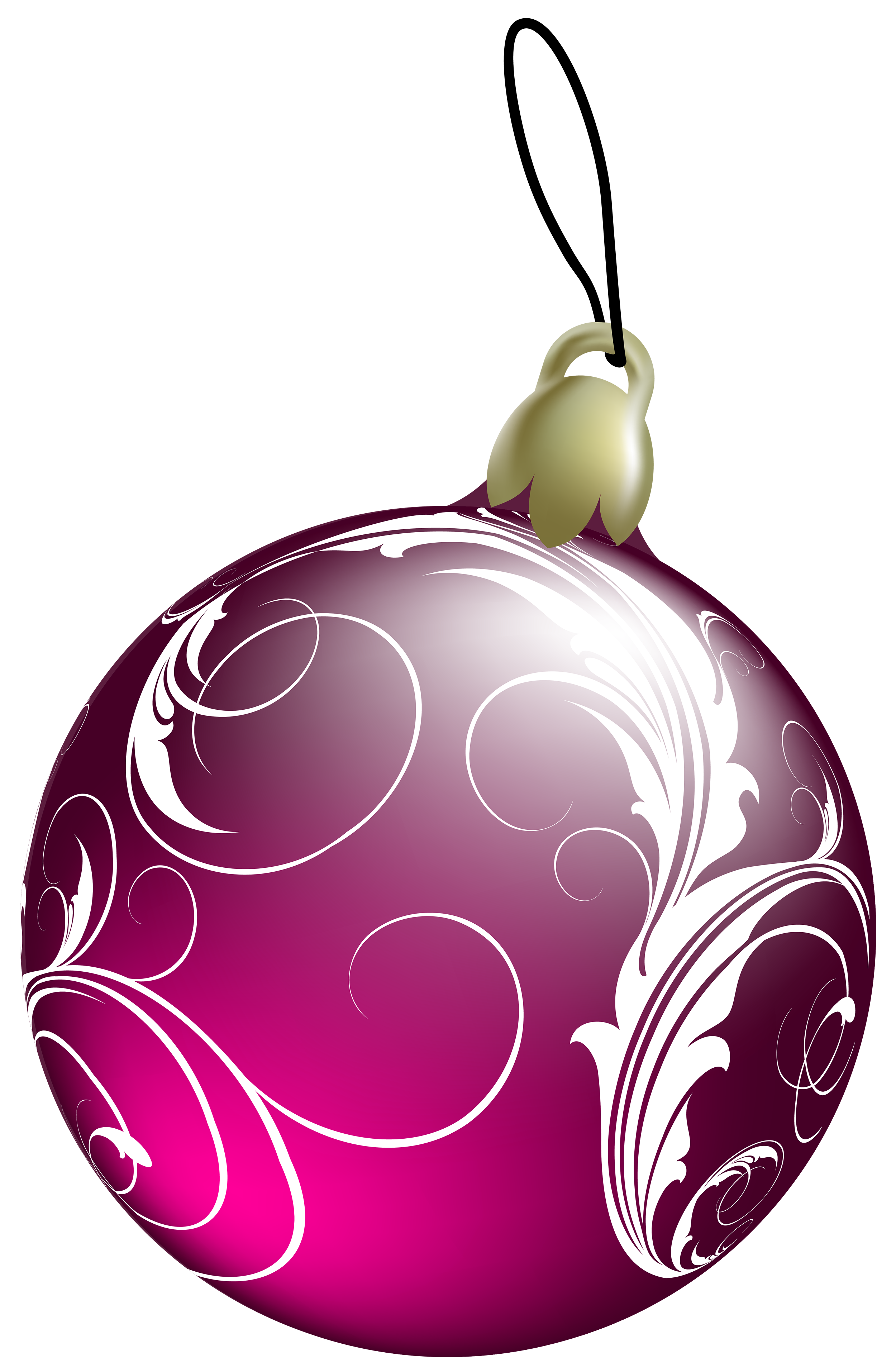 Beautiful Pink Christmas Ball PNG Clipart.