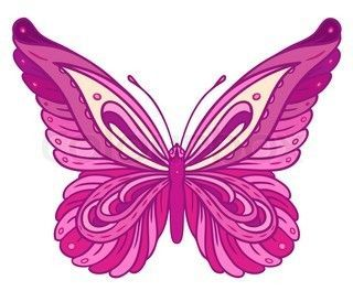 Pink And Purple Butterfly Clipart #1.