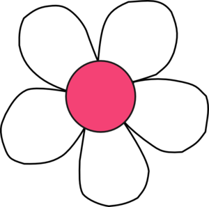 Pink and white flower clipart.