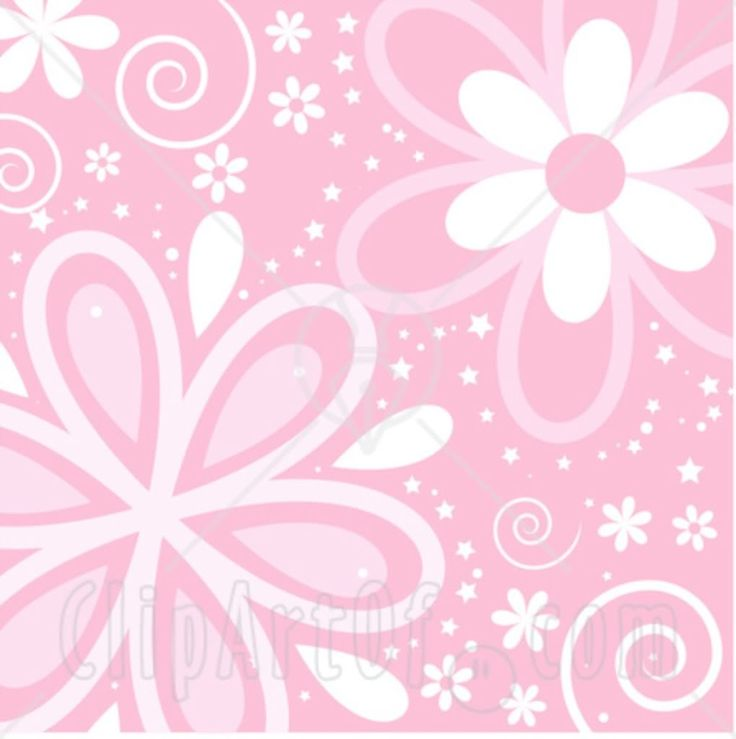 Flowers clipart pink background.