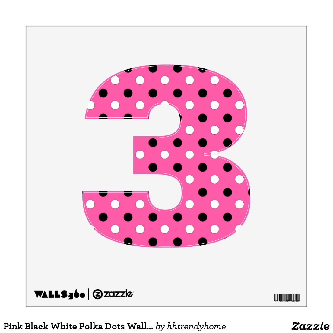 Pink And White Number Clipart.
