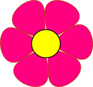 Pink And Yellow Flower Clip Art at Clker.com.
