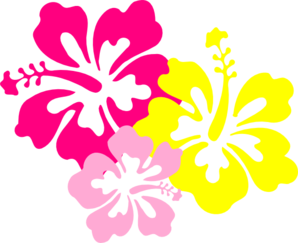 Pink and yellow clipart.