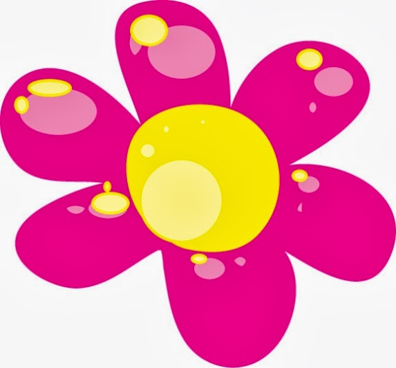Gallery For > Pink and Yellow Flower Clipart.