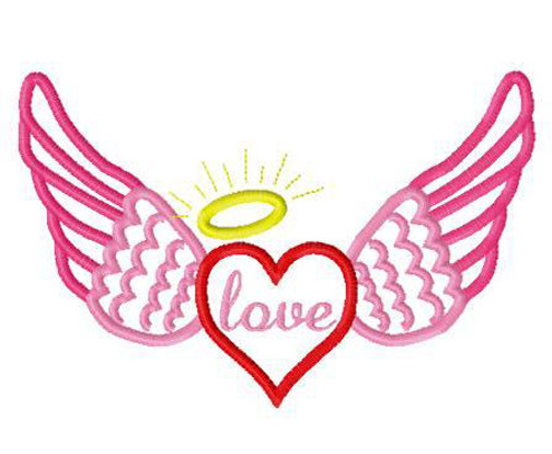Pink Angel Wings Design.