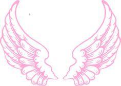 Pink Angel Wings clip art.