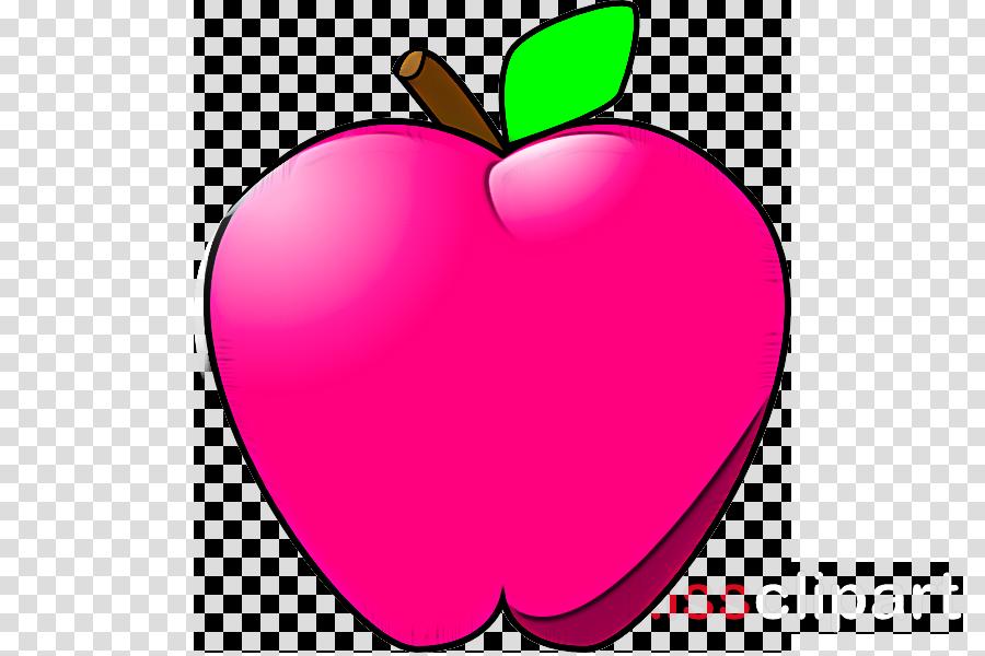 pink apple fruit mcintosh plant clipart.
