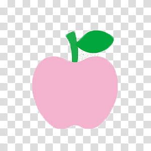 Hello Kitty, pink apple fruit illustration transparent.