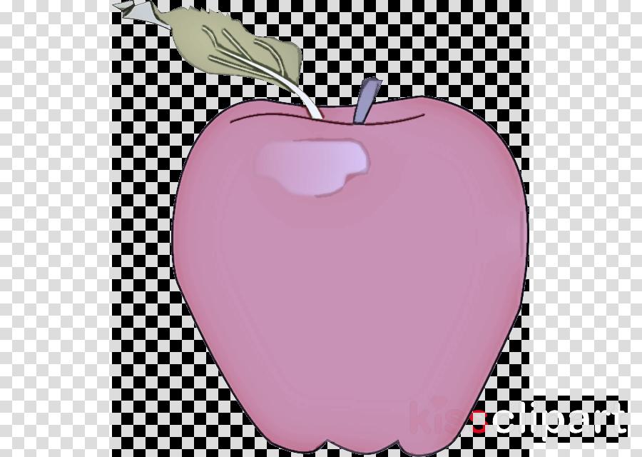 pink apple fruit purple plant clipart.