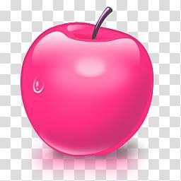 S, pink apple art transparent background PNG clipart.