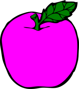 Pink Apple Clipart.