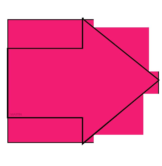 Miniclips:Arrows Clip Art by Phillip Martin, Pink Arrow.