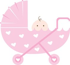Pink Baby Bassinet Clipart.
