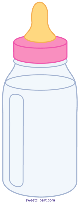 Pink baby bottle clip art clipart images gallery for free.