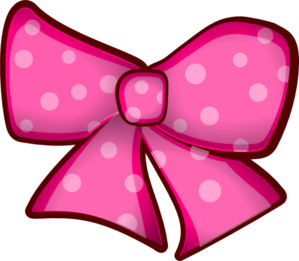 Pink Bow clip art.
