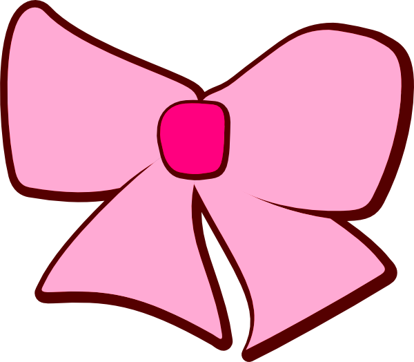 Baby Girl Pink Bow Clip Art free image.
