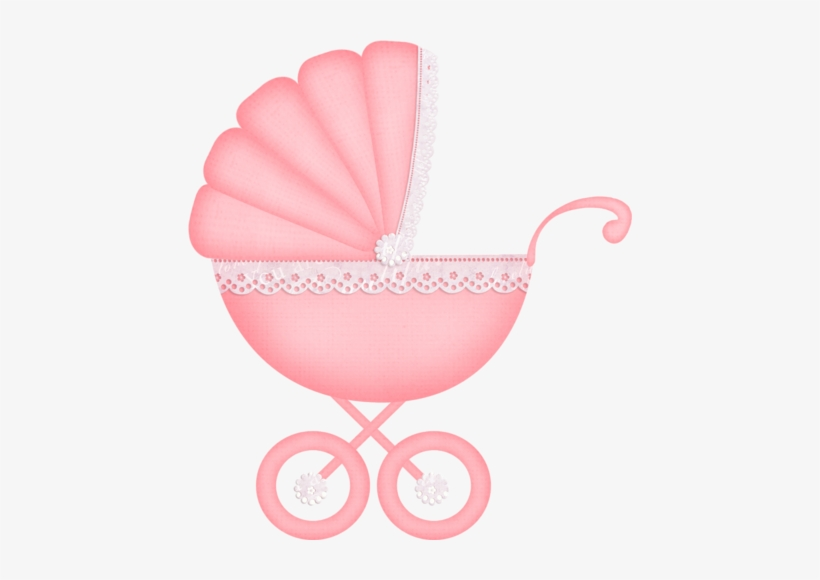 Carriage Clipart Baby Pink.