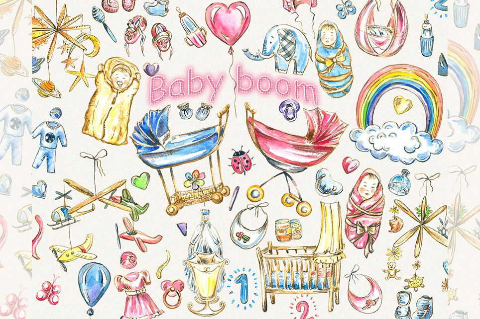 Baby clipart,pink baby clipart, baby girl clipart.