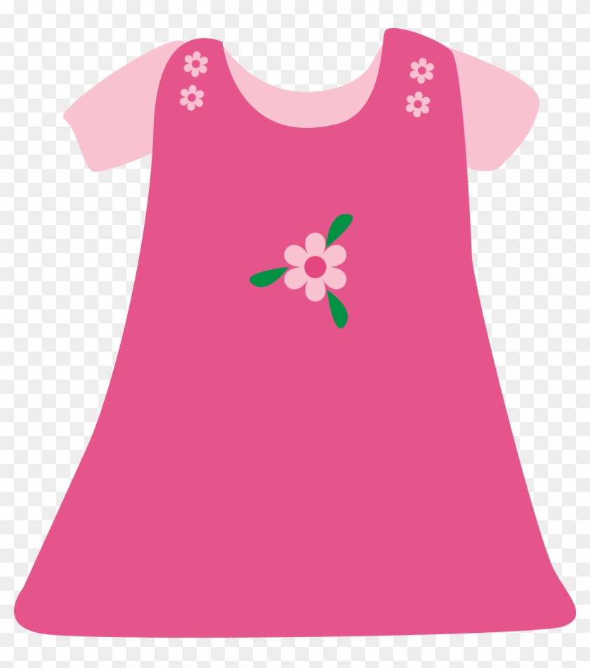 Pink Dress Clipart Infant Clothes.