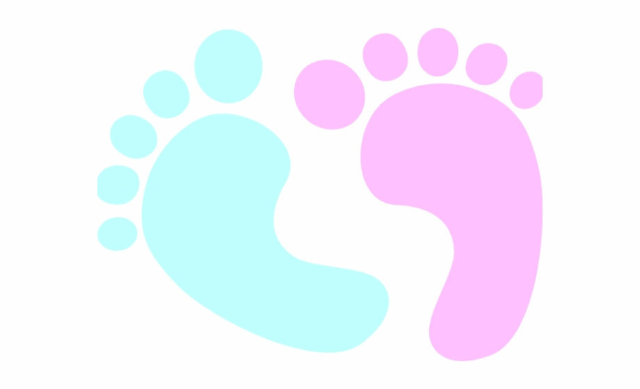 Blue And Pink Baby Feet Free PNG Images & Clipart Download.