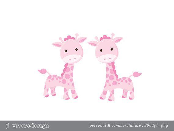Pink Giraffe Cliparts.