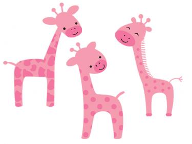 girly giraffe clipart.
