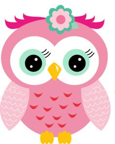 Pink Owl Clipart.