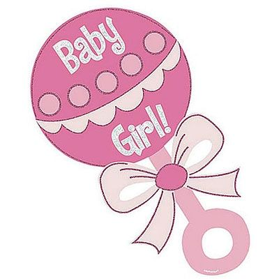 Baby Girl Rattle Clipart.