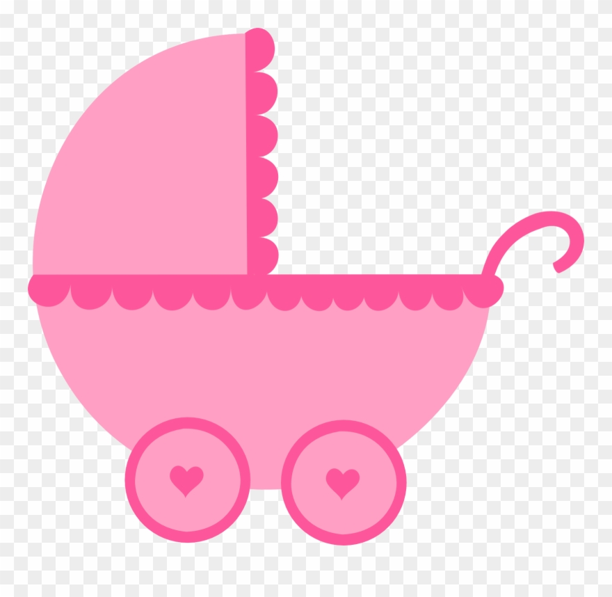 Baby Girl Clipart, Baby Shower Clipart, Baby Box, Baby.