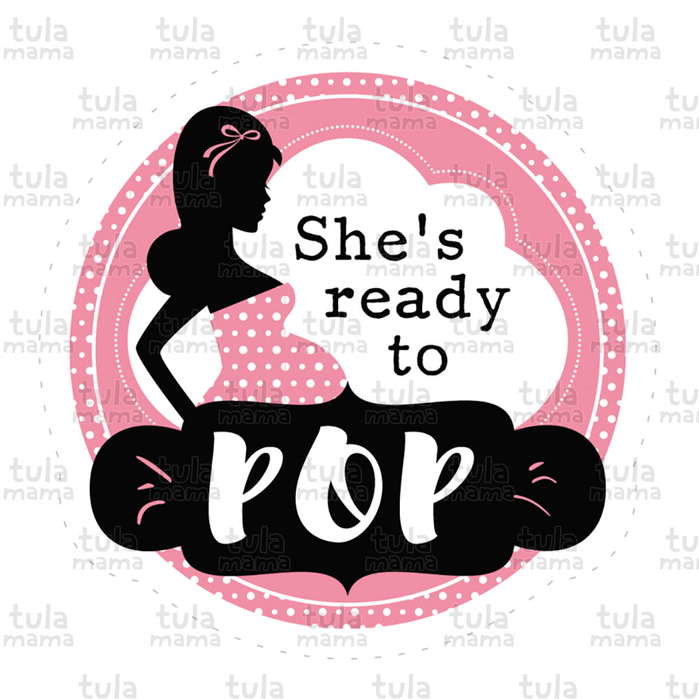 Ready To Pop Pink Baby Shower Clipart.