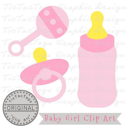 Baby Shower Clipart, Baby Clipart, Baby Girl Clip Art, Personal and CU.