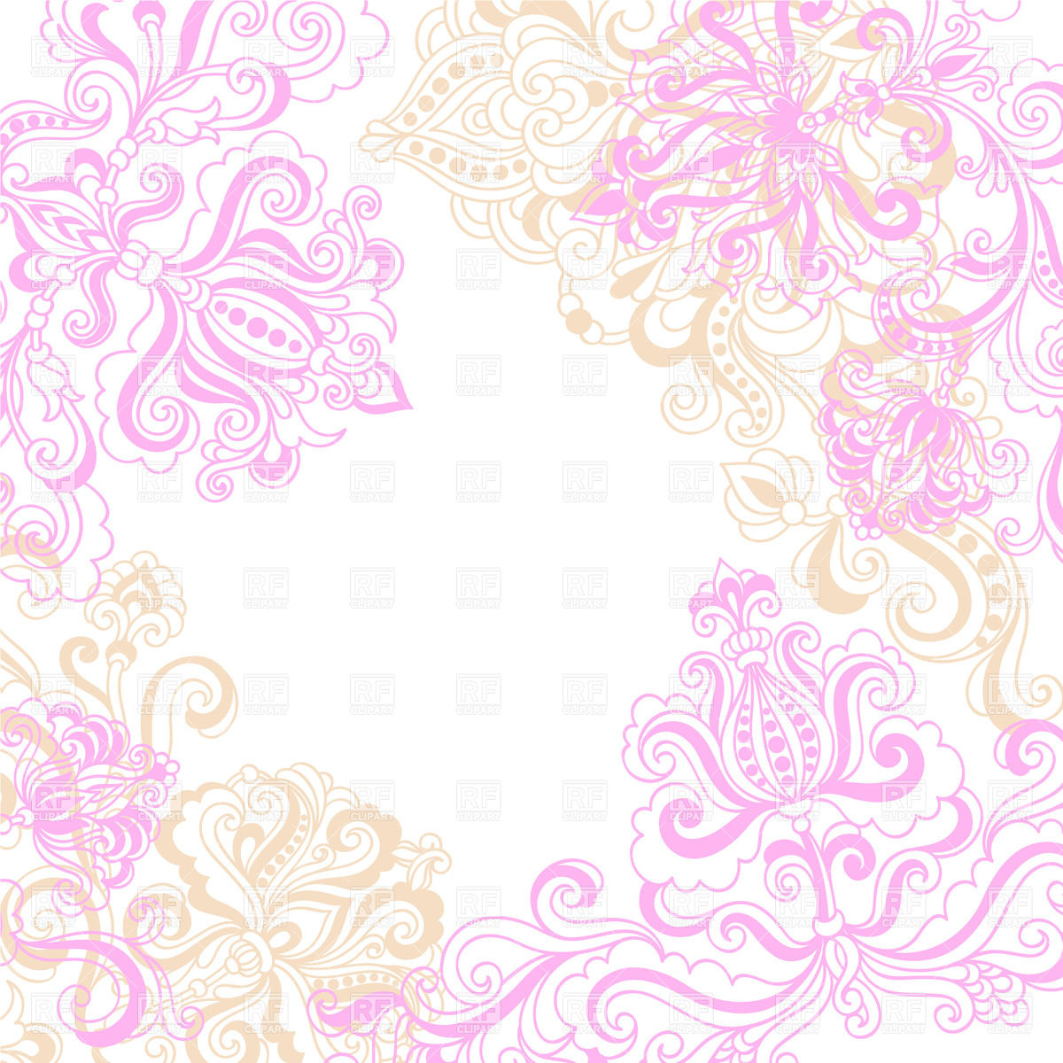 Pink background clipart #10